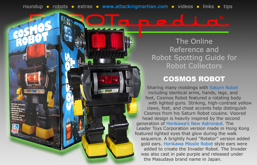 Cosmo Toy Robot New : Robotapedia presents leader toy corp cosmos robot